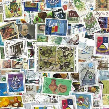 Moldavie - 25 timbres différents