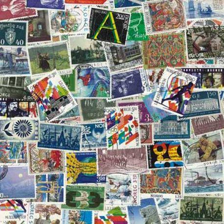 Norvege - 100 timbres différents