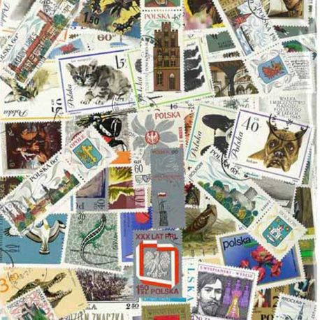 Pologne - 100 timbres différents
