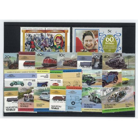 Nukufetau - 25 timbres différents