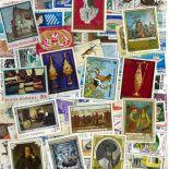 Sammlung gestempelter Briefmarken Rumänien