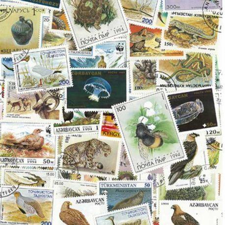 Russian Staaten - 50 verschiedene Briefmarken