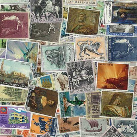 Collection de timbres St Marin oblitérés