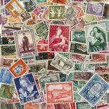 Saarland-Sammlung gestempelter Briefmarken
