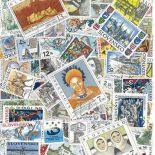 Sammlung gestempelter Briefmarken die Slowakei