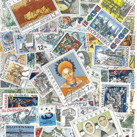 Slovaquie - 25 timbres différents