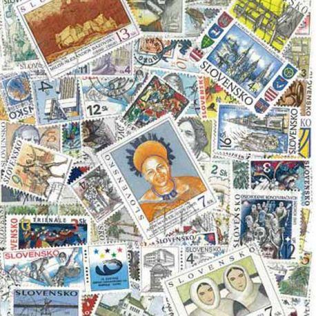 Collection de timbres Slovaquie oblitérés