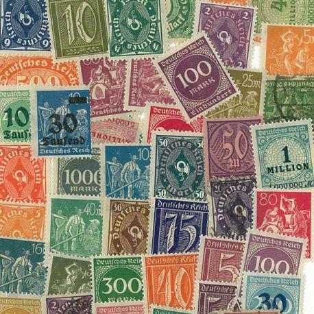 Inflation Deutschland - 50 verschiedene Briefmarken