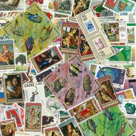 Collection de timbres Belgique Colonies & Republique oblitérés