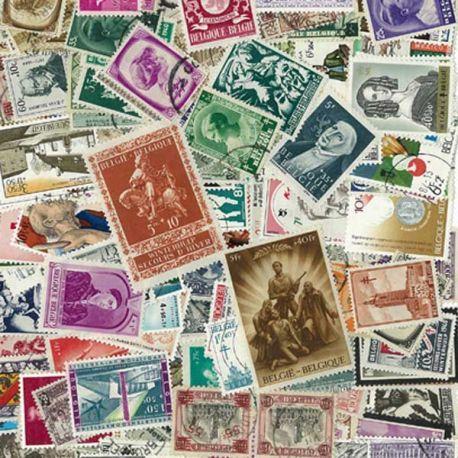 Belgique Surtaxes - 100 timbres différents