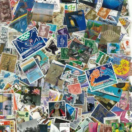 Collection de timbres Grande Bretagne oblitérés