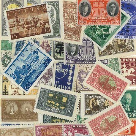 Lituanie - 25 timbres différents