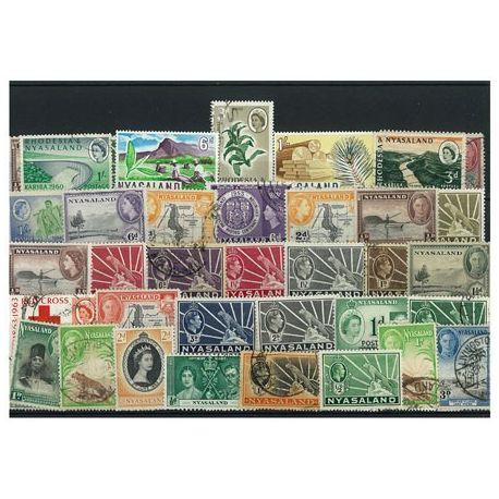 Nyasaland - 10 verschiedene Briefmarken