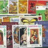 Sammlung neuer Briefmarken Antigua