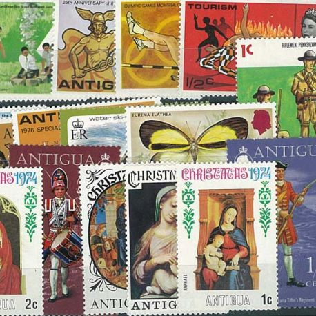 Collection de timbres Antigua oblitérés