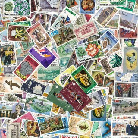 West Indies - 100 verschiedene Briefmarken