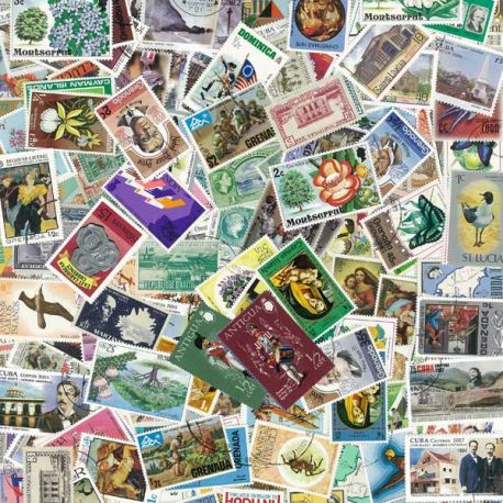 West Indies - 100 different stamps