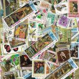 Sammlung gestempelter Briefmarken Arabien