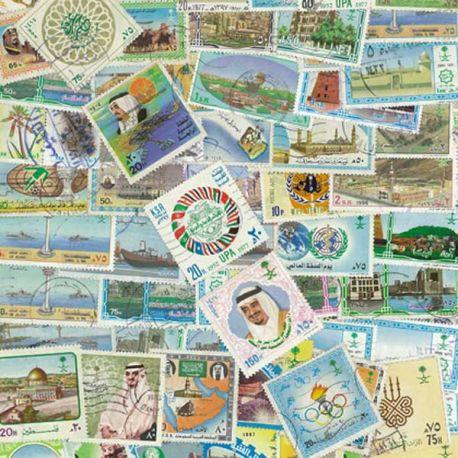 Saudi Arabien - 25 verschiedene Briefmarken