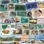 Sammlung gestempelter Briefmarken Aufstieg