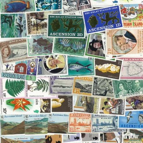 Collection de timbres Ascension oblitérés