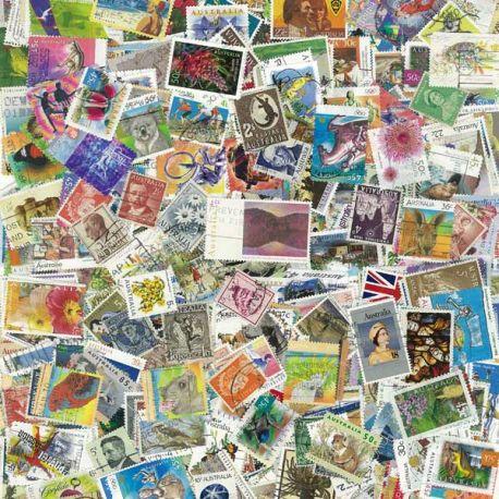 Australien - 100 verschiedene Briefmarken