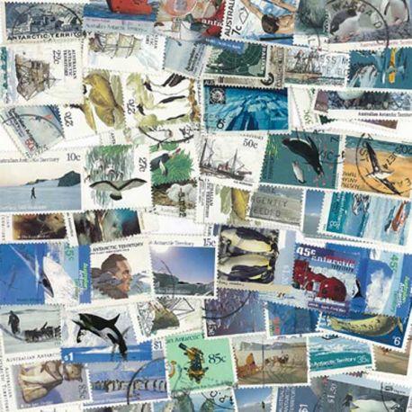 Australie Antarctique - 25 timbres différents