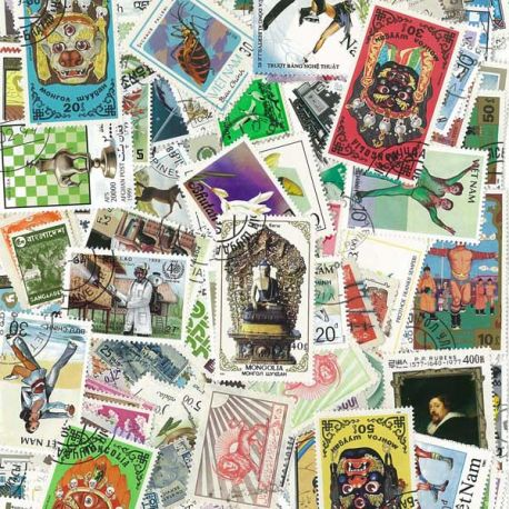 Asia - 100 different stamps