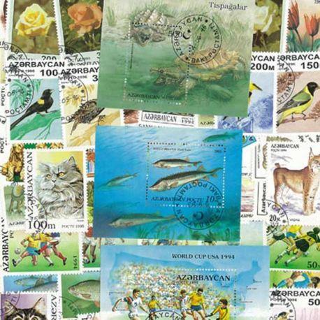 Aserbaidschan - 25 verschiedene Briefmarken