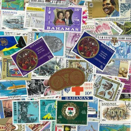 Bahamas - 25 verschiedene Briefmarken