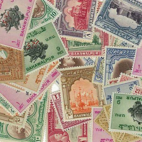 Bahawalpur - 10 verschiedene Briefmarken
