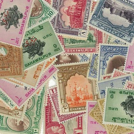 Bahawalpur - 10 different stamps