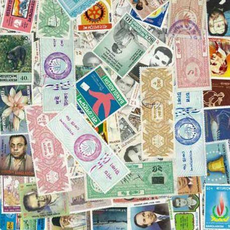 Bangladesch - 50 verschiedene Briefmarken
