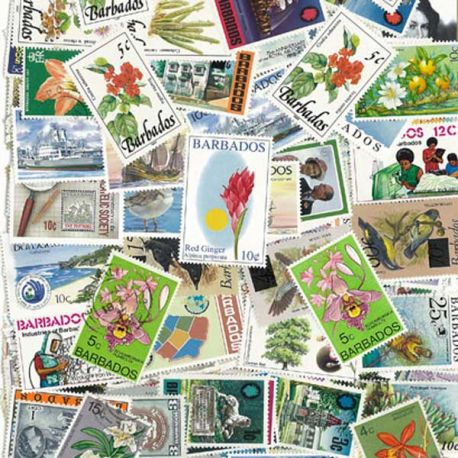Collection de timbres Barbade oblitérés