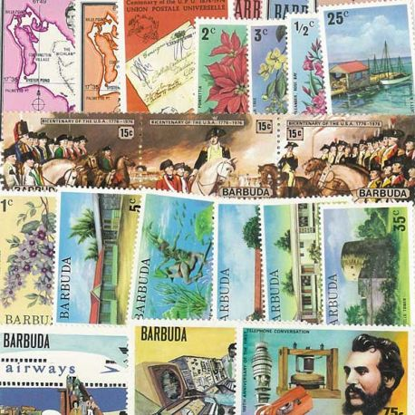Collection de timbres Barbuda oblitérés