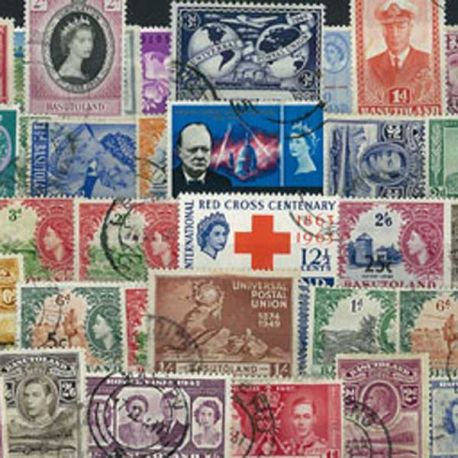 Basoutoland - 10 timbres différents