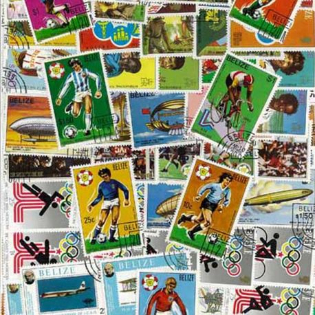 Belize - 25 verschiedene Briefmarken