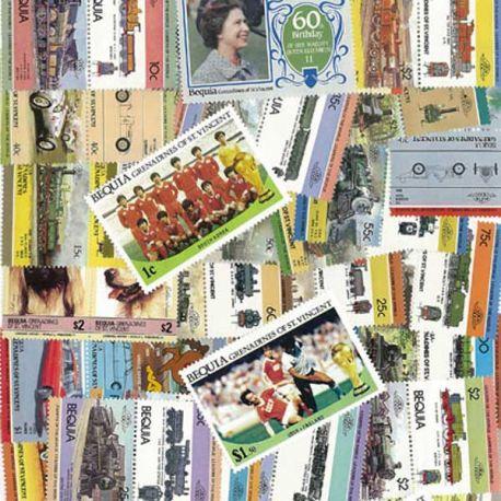 Bequia - 25 verschiedene Briefmarken