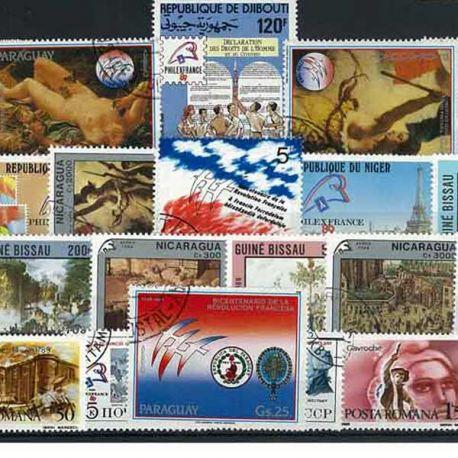 Bicentenaire Revolution : 25 timbres différents