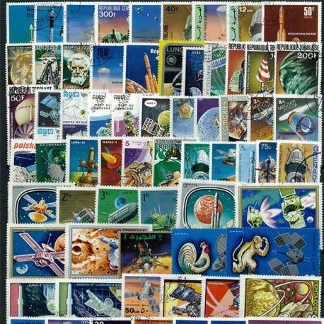 Collection de timbres Sondes Spatiales oblitérés
