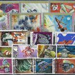 Sammlung gestempelter gekommener Briefmarken
