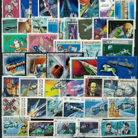Collection de timbres Soyouz oblitérés