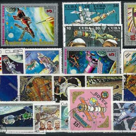 Collection de timbres Stations Orbitales oblitérés