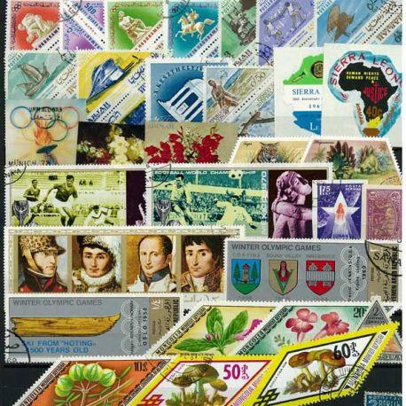 Collection de timbres Format Bizarre oblitérés