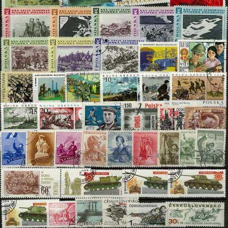 Collection de timbres Guerre oblitérés