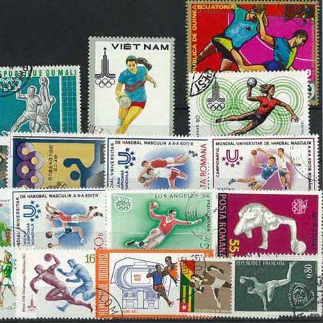 Collection de timbres Hand Ball oblitérés