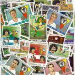 Collezione di francobolli calciatori cancellati