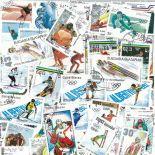Collection de timbres Jo Hiver Albertville oblitérés