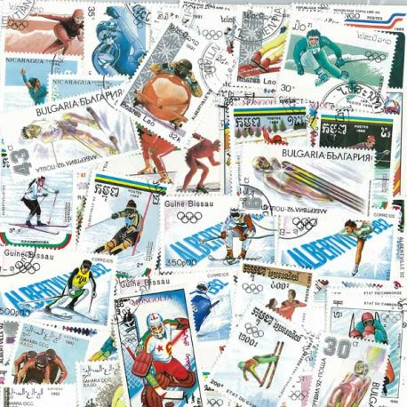 Collection Timbres JO Collection de timbres Jo Hiver Albertville oblitérés à partir de 4,00 €