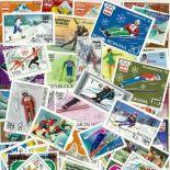 Gestempelte Briefmarkenensammlung olympische Spiele Winter Innsbruck